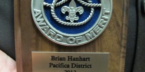 ScoutMaster Hanhart – District Award of Merit