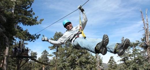Zipling in Big Bear