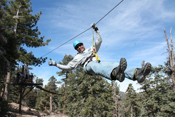 Zipling in Big Bear