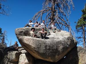 Scouts Rock Climbing